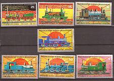 GUINEE 7 T oblitérés   locomotives anciennes de l' année fin 1800   82M 63