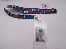 """CHICAGO CUBS """"FLY THE W"""" LANYARD KEYCHAIN AND TICKET HOLDER & COLLECTIBLE CARD"""