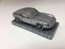 Saab Sonnett 2 Two Stroke 1.43 Scale Pewter Effect Model Car Made In Sheffield