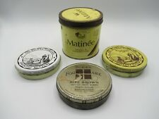 Matinee, Balkan Sobranie, Dobie's Four Square Lot of 4 - Tobacco Tins Empty VTG