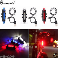 Cycling 5 LED USB Rechargeable Bike Bicycle Tail Light Warning Light Rear Safety