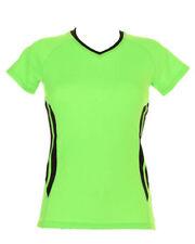 Polyester V Neck Patternless Short Sleeve T-Shirts for Women