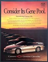 "1996 Chevrolet Camaro RS Convertible photo ""Consider Its Gene Pool"" print ad"