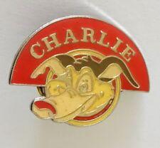 Charlie Wolf Dog Novelty Cartoon Animal Pin Badge Vintage (N2)