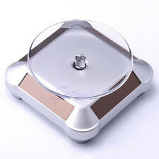 Solar Showcase 360 Turntable Rotating Jewelry Phone Watch Ring Display Stand Hot