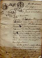 1823 Acte du Tribunal d'Aubusson DECHAUD MALTERRE & BELOT contre DUBOUEIX Compas