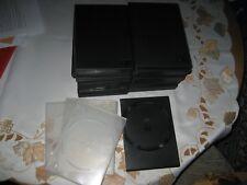 24 DVD-Hüllen schwarz, gebr.