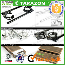 Tarazon BLACK Easyfit 41mm clip on handlebars billet aluminium alloy .