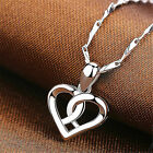 1x Swirl Heart Pendant 925 Sterling Silver Necklace Ladies Womens Jewellery Gift