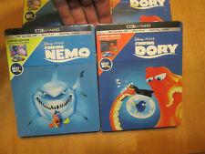 Disney Pixar Finding Nemo & Dory 4K Ultra Hd Blu-Ray Steelbook Best Buy Complete