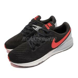 Nike Air Zoom Structure 22 Black Orange Grey White Men Running Shoes AA1636-010
