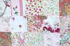 20 Floral Rosa Paquete De Material plazas Colchas de retazos de tela Patchwork libre Botones
