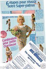 Combinaison enfant. T2 à 6ans.Modes&Travaux Mars 1987,Vintage Neuf, non découpé.