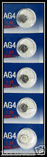 5 AG4 LR626 377 SR66 1.5V Alkaline Button Cell Watch Batteries Ships From USA