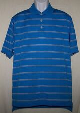 Adidas Golf Cool Max clima cool Blue stripe size M relaxed Fit NWT L@@K!