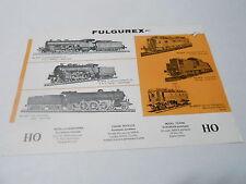 VINTAGE CATALOG #2377 - 1969 FULGUREX MODEL TRAINS