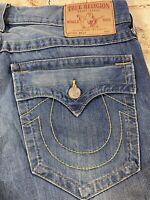 TRUE RELIGION BILLY BOOTCUT MADE IN USA DESIGNER MEN'S JEANS SIZE 36x30