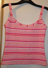 Black Friday New Next Intimates UK12 Strappy Vest Top. Pink, Red, White, Orange