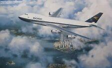 BOAC BOEING 747 ART PRINT BRITISH AIRWAYS B.O.A.C.