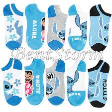 Disney Lilo & Stitch Hawaii Aloha HI Terror Mix Match 5PR NO SHOW Socks 9-11 NEW
