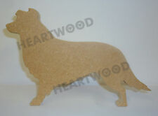 BORDER COLLIE DOG SHAPE MDF (149mm x 18mm thick)/WOODEN BLANK CRAFT SHAPE