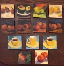 Group Oil painting stretched 6x6 canvas OrMargaret Aycock original Or U Pick