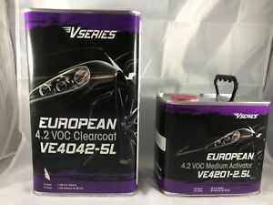EUROPEAN CLEARCOAT VSERIES & MEDIUM ACTIVATOR-CAN'T SHIP TO CALIFORNIA