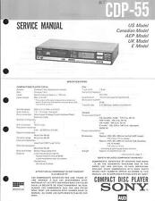 Sony Original Service Manual per cdp-55