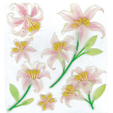 Beautiful Lilies Wedding Funeral Valentines Day Mother's Day Jolee's 3D Stickers