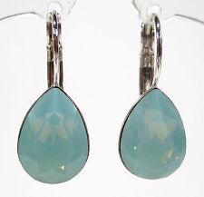 SoHo® Ohrhänger Ohrringe pacific opal geschliffene Kristall tropfen türkis grün