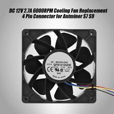 DC 12V 2.7A 6000RPM PC Ventilateur De Refroidissement Connecteur 4 Broches