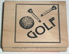 Golf - Mary Hughes - papercraft4you - Rubber Stamp Stempel