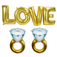 Engagement Party Decorations Set, Gold Love Balloons, Valentines Day, Wedding