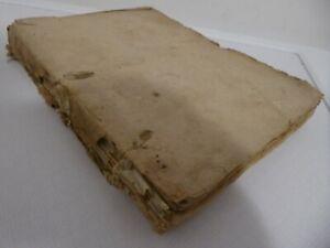 Interessante libro manoscritto del 1739 da studio