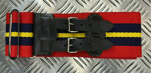 Genuine British Army Royal Artillery Double Buckle Stable Belt. Adjustable - NEW