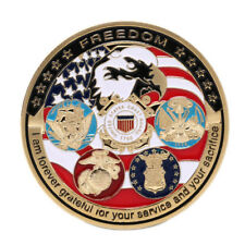 Gold Plated Grateful Nation Freedom Commemorative Coins Challenge Souvenir  ST