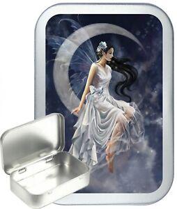 Fairy Moon Hinged Tin Gift Box, Jewellery, Wedding, Birthday, Party Bag