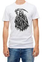 Grim Reaper men's T Shirt Short Sleeve Cotton Crew Neck