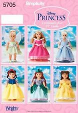 Simplicity Sewing Pattern 5705 18' Doll Clothes Disney Princess Dress One Size