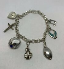 925 Sterling Silver Charm Bracelet 7 Southern Charms Beautiful