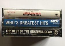 3x Classic Rock Greatest Hits Tape Lot Janis Joplin Who Greatful Dead TESTED