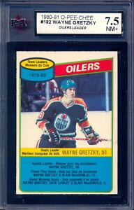 1980 OPC O PEE CHEE #182 Wayne Gretzky Graded KSA 7.5 NM+ Unmarked Leader Oilers