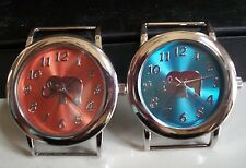 SET OF 2 GOOD LUCK ELEPHANT DIAL WATCH FACES FOR BEADING,RIBBON OR OTHER USE