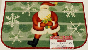 """BETTER HOME Non-Skid Printed SANTA WITH GIFT,  17""""×28"""" ☆NWT☆"""
