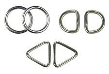 Edelstahl Ringe D-Ring Triangel Öse 3 bis 10mm V4A rostfrei Doppelpack, 2 Stück