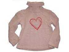 Vertbaudet tolles Langarm Shirt / Rolli Gr. 104 rosa mit Herzmotiv !!