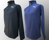 Mens Puma Active Essential Runner QTR Zip Pullover Sweater Gym Golf Top S M L XL