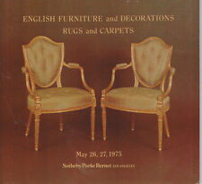 Sotheby's Los Angeles- English Furniture & Decorations, Rugs & Carpets 5/26/75