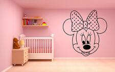 Vinyl Wall Decal Sticker Decor Nursery Mickey Mouse Minnie DIsney Cartoon O164