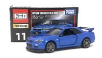 Tomica Premium Modellauto 1:62 Nr 11 Nissan Skyline GTR VSpec 2 blau Takara Tomy